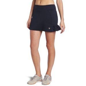 Fila Essenza tennis skort black ruffled mini